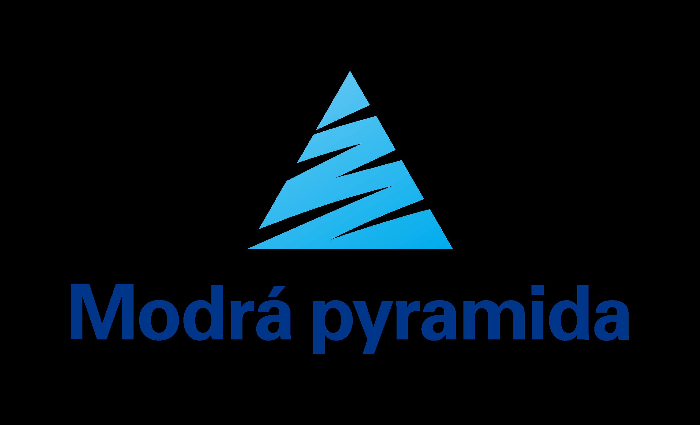 Modrá pyramida logo