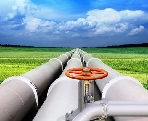 plynovod v přírodě