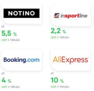 přehled e-shopů, které podporují twisto cashback a procentuální odměna